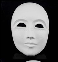 other paper mache - 2 DIY Thicken Paper Mache Plain White Cosplay Masks For Sale Full Face Event Party Supplies