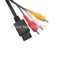 al por mayor nintendo n64-AV Audio Video A / V cable de cable de TV para Nintendo 64 N64 GameCube NGC SNES SFC cable motorola