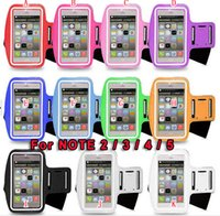 For Samsung Leather For Christmas Sport Gym Running Armband PU Leather Case workout Pouch Protector For Samsung Galaxy Note 5 4 3 III N9000 Note5 2 II N7100 colorful Luxury
