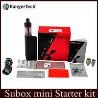Wholesale kanger subox Mini Starter Kit Authentic Kangertech OCC coils Subtank Mini Kbox w box mod vs joyetech ego one kit Triton tank