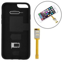 Wholesale Kumishi Dual SIM Card Adapter with a Back Case Cover for iPhone s Black