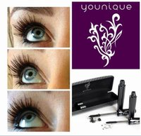 Wholesale 2014 Top Sale Younique D Fiber Lash Mascara Moodstruck Black Full Thick Long Lashes Makeup Lash Eyelash Waterproof sets