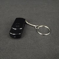 Wholesale Key Chain HD Spy USB Disk Camera Mini DV DVR With Motion Detector Vedio Voice Record Black White in retail box drophipping
