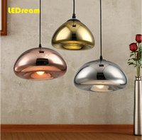 Wholesale LED electroplating brass chandelier bowl contracted sitting room the bedroom lamp glass lamp ikea Nordic restaurant