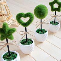 Cheap Kawashima house Japanese grocery wind Korean Mini simulation potted bonsai tree small potted artificial tree wish
