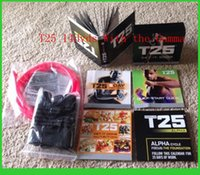 Cheap 2015 Focus T25 DVD Workout Set Shaun T's Crazy Body Exercise Fitness Video High Definition With Resistance Band Potent Slimming Trainin