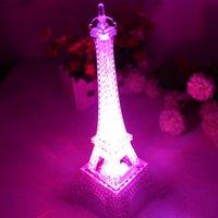Wholesale Hot Fashion Eiffel Tower Night Light Decoration LED Lamp Desk Bedroom Lighting