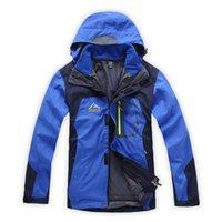 ykk waterproof zipper - Men Waterproof Wei Tex Outdoor Hiking in1 Jacket YKK Zipper Hooded Outwear Coat