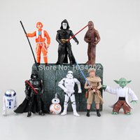 Wholesale 200 conjunto New Star Wars Yoda le chevalier noir Clone Trooper PVC Action Toy doll chiffres CM poupées enfants cadeau