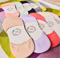 basic slippers - socks summer fashion women s cotton basic I shaped socks casual lady s candy color invisible socks slippers