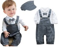 Cheap Summer 2015 Boy Clothing Set long Sleeve With Bow Tie Shirt And Suspender Jeans Children Clothing Sets Baby Clothes Hot Sale England style