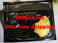 Wholesale DHL HIGH QUALITY fresh K gold collagen crystal facial face mask upgraded black packaging