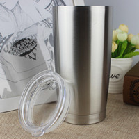stainless steel travel mug - Vacuum Insulated Stainless Steel Travel Tumbler oz YETI Cups Coolers Rambler Tumbler Bilayer Stainless Steel Insulation Cup Mugs
