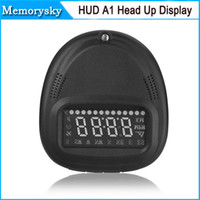 Wholesale HUD A1 Universal Car GPS Head Up Display vehicle system Speedometer KMH MPH with Overspeed Alarm hot sale