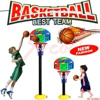 Cheap Free shipping XC8801B Hot Baby Toys Children Sports Basketball Toys Set Basketball Stands with Tie Pump Outdoor & Indoor Toy