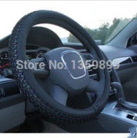 Wholesale The new steering wheel cover ice silk PU leather steering wheel cover to cover slip universal car M49155