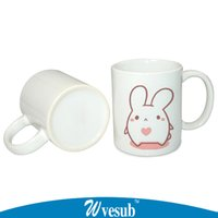 photo mug - 11oz White Coated Sublimation Ceramic Mugs For Customise By Yourself Blank Cup For DIY Photo Printing Mugs