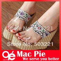 Wholesale summer women platforms Bohemia lace sandals for women summer shoes fashion high heel platform sandals