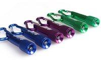 Wholesale flashlights light Keychain Aluminum Alloy with Carabiner Ring for gifts christmas Keyrings LED flashlight Minilight