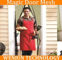 Wholesale FreeShipping Magic Door Mesh stops Insect Bug Fly Wasp Moth Screen Magnetic Door Net Curtain order lt no track