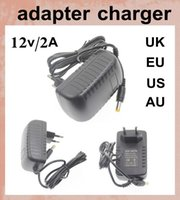 ac lighting uk - AC V to DC V A UK AU EU US Plug v power adapter with usb cable male female charger adapter v a for led strips light DY001