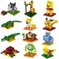 Wholesale 2015 New Year Gift LOZ Building Blocks small animal Minion Mario Transformation Minifigures Cartoon Characters D Bricks Toys Styles