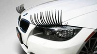 Wholesale 50PCS Pairs D Car Auto Decoration Car Headlight Eyelashes Automotive Accessory mm D Headlamp Eye Lashes Logo Sticker Christmas Gift DIY