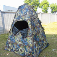 Wholesale Forest maple leaf camouflage tent Waterproof nylon outdoor field hunting multisport cameraman photograph tabernacle Hunter disguise