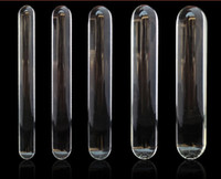 Wholesale Sexy Crystal Glass Dildos Penis Anal Plug Glass Stick Sex Flirting Toys Good Gift For Her