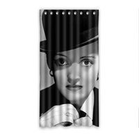 bette davis - Bathroom Product Pastoral Bette Davis Shower Curtains Liner Waterproof Fabric Machine Washable Bath Curtains x72