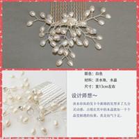 Cheap Elegant Pearl Bridal Hair Comb Pearl Decoration Bridal Hair Accessories Women Jewelry Bridal Headwear For Wedding Party Bridal Headgear