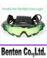 Wholesale llfa1627 High Quality Portable Anti Slip Night Vision Goggle with Flip Out Lights Green Lens for Outdoor Emergency Use