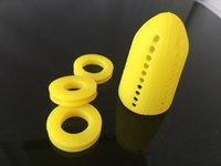 air tube diffuser - Quiet smoking dispenser of porous dabber Rasta Silicon Tube color Mini Hookah Air Diffuser Smoking pipe filter Shisha