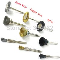 Wholesale 90x Steel Wire Wheel dremel tools accessories rotary tool wire Brush burr abrasive head set deburring for mini drill tools Wheel