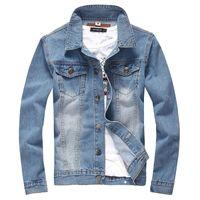 big jackets for men - Fall New men s clothing men s brand jeans jacket men denim jackets coat outerwear for men Big Size XL tops cotton Sport coat
