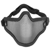 Wholesale Half Face Metal Mesh Net Mask Airsoft For Motorcycle Tactical Hunting Covers From The Nose To Your Chin