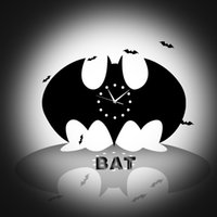 batman clock - DIY Wall Stickers Living Room Wall Clock Clock Creative Home Decorations Craft Wall Clock Batman Watches