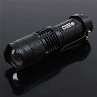 aa tactical flashlight - Ultrafire W lm CREE Q5 LED ZOOMABLE Mini Flashlight Torch Lamp AA Outdoor Portable Mini CREE Flashlights For Hiking Camping