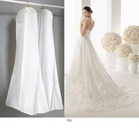 big garment bag - In Stock Big cm Wedding Dress Gown Bags High Quality White Dust Bag Long Garment Cover Travel Storage Dust Covers Hot Sale