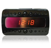 Wholesale V26 IR Clock Camera Full HD P Black Night Vision Alarm Mini DVR DV Video Recorder With Motion Detection Remote Control