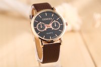 auto shop - Brand luxury watch men fashion leather strap geneva watches for men casual ms wristwatch shop relojes mujer time