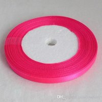 Wholesale Hot pink Roll Yards quot mm Satin Ribbon Craft Bow Wedding Gift Supply Decoration Colors Sale Hot RIB