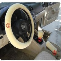 Wholesale New warm plush winter car steering wheel cover imitation wool Universal auto supplies piece