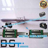 ballscrew hiwin - HIWIN HGR20 L1300 mm Linear guide ballscrew L1373 L765 mm ball screw with BK12 BF12 support and bracket