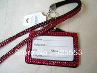 badge marketing - The Cheapest Price Rhinestone Lanyard with ID badge holder In market for sale