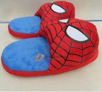 house slippers men - EMS hot cartoon slippers superhero spiderman home shoes house soft anti slip slipper shoe christmas shoe for Adult man J123103