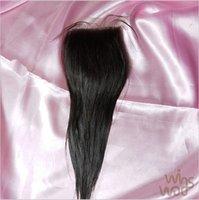 "Cheap New Arrival Silk Base straight Closure Brazilian Virgin Hair Straight, 4*4 10""-20"" 100% Unprocessed Virgin Human Hair"