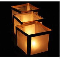 lantern paper - 30pcs Square Shape Chinese Floating Water Lanterns Paper Craft for Party Wedding Decoration Paper Lantern