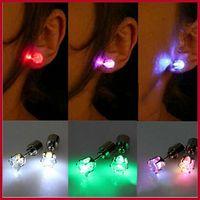 Wholesale LED Electronic Light LED Flash Earrings Flash Stud Earrings LED Earrings Hipster Novel Creative Personality Love Stud Earrings Earrings Gift