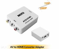 Mini AV2 Composite RCA CVBS audio/vidéo HDMI à HDMI Converter Adaptateur connecteur DVD 720p 1080p P couleur blanche